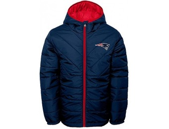 89% off NFL Boys' Quilted Jacket - New England Patriots