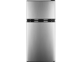 $100 off Insignia 4.3 Cu. Ft. Top-Freezer Refrigerator - Stainless steel