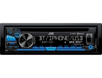 $50 off JVC In-Dash CD/DM Receiver Built-in Bluetooth