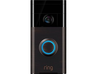 $130 off Ring Wi-Fi Smart Video Doorbell - Venetian Bronze