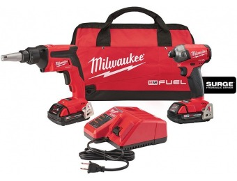 $133 off Milwaukee M18 Brushless Drywall Screw Gun/Impact Combo Kit