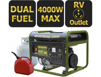47% off Sportsman 4,000-Watt Dual Fuel Powered Portable Generator