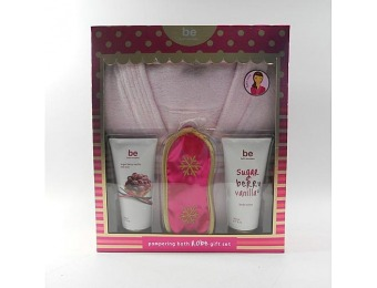 75% off be bath escapes Sugar Berry Vanilla Bath Robe Gift Set