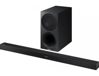 "$120 off Samsung 2.1-Ch Soundbar System with 7"" Wireless Subwoofer"