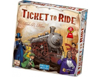 $25 off Days of Wonder - Ticket to Ride Board Game