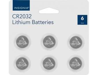 44% off Insignia CR2032 Batteries (6-Pack)