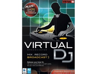 88% off Virtual DJ: Broadcaster - Mac|Windows