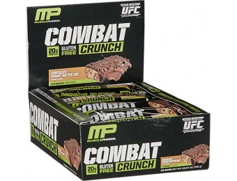 68% off Combat Crunch Chocolate Peanut Butter Cup (12 Pack)