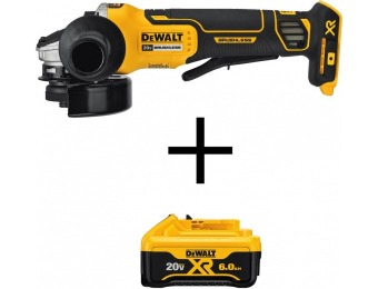 "$156 off DEWALT 20V MAX XR Li-Ion Brushless 4-1/2"" Angle Grinder"