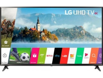 "$250 off LG 43"" UJ6300 2160p HDR Smart 4K UHD TV"