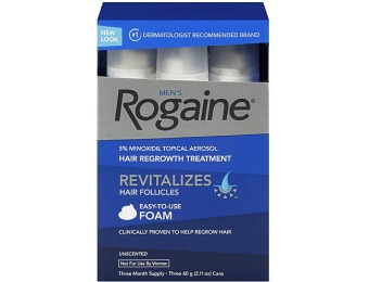 $31 off Rogaine Men's Hair Regrowth Treatment, 3 Pack