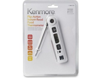 82% off Kenmore Flip-Action Instant-Read Food Thermometer