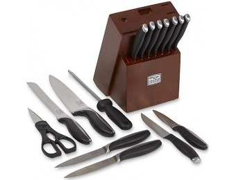 73% off Chicago Cutlery Avondale 16-Pc Knife Block Set