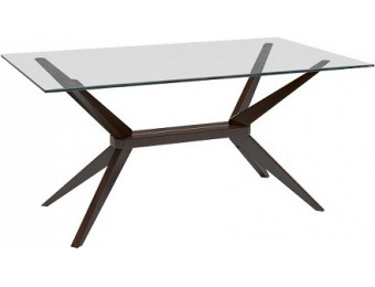 81% off Greenwich Dining Table with Glass Top + Extra 15% off