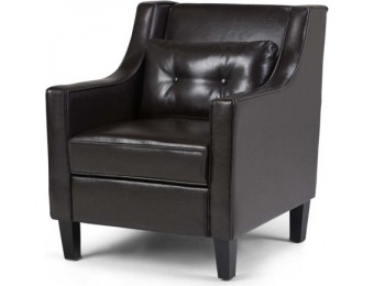 84% off Ashland Club Chair Tanners Brown Faux Leather - Simpli Home