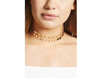 89% off Heart Chain Choker Set