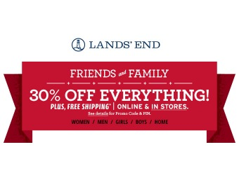 Lands' End Friends & Family Coupon: 30% off Sitewide