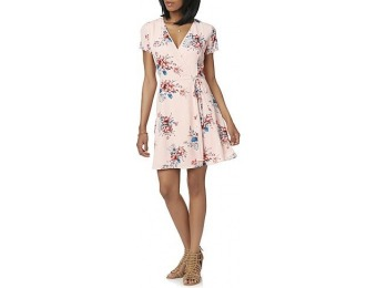70% off Cloud & Sky Juniors Wrap Dress - Floral