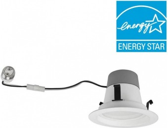 "76% off TCP 50W Equiv Soft White 4"" Dimmable LED Downlight (4-Pack)"