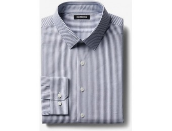 71% off Express Mens Classic Striped Point Collar Dress Shirt