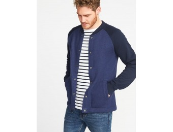 69% off Old Navy Men's Raglan-Sleeve Fleece Bomber Jacket