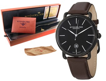 $286 off Stuhrling Original 768.03 Classic Ascot Leather Watch