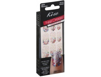 75% off Kiss Nail Dress for Tips and Toes, 28 Strips