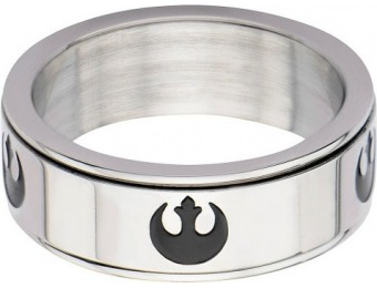 68% off Star Wars Rebel Men's Stainless Steel Spinner Ring