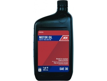 93% off Ace SAE 30 Engine Oil 1 qt (6 Pack)
