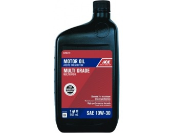93% off Ace 10W-30 Engine Oil 1 qt (6 Pack)