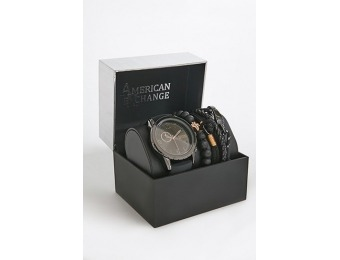 50% off American Exchange Men's Watch & Bracelet Set