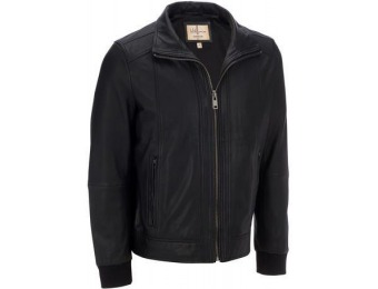 51% off Wilsons Leather Vintage Ribbed Trim Genuine Leather Jacket