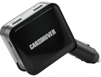 67% off Car and Driver Dual USB Car Charger with Power Bank