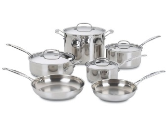 $266 off Cuisinart 77-10 Stainless 10-Piece Cookware Set
