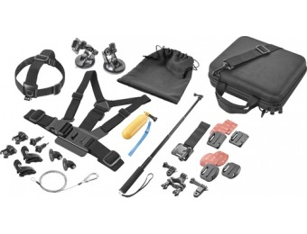 33% off Dynex Advanced Accessory Kit 24pc for GoPro Action Camera
