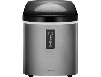 $55 off Insignia 33-Lb. Portable Ice Maker - Stainless Steel