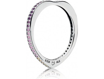 45% off PANDORA Multi-Colored Arc of Love Ring