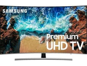 "$500 off Samsung 65"" LED Curved NU8500 HDR Smart 4K UHD TV"