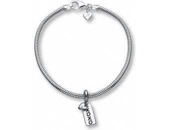 70% off Charmed Memories Hugs & Kisses Bracelet Sterling Silver