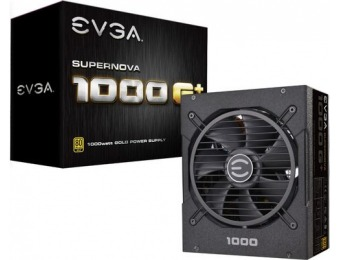 $70 off EVGA 1000W ATX /EPS 80 Plus Gold Modular Power Supply