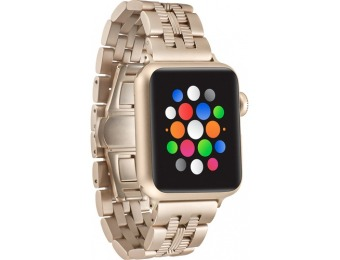 $22 off Matte Gold Apple Watch 38mm Stainless Steel Watch Strap