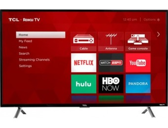 "$306 off TCL 43"" LED 4 Series Smart HDR 4K UHD TV with Roku TV"
