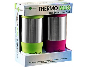 50% off Twin Pack 20 oz. Stainless Steel Travel Mugs