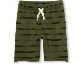 76% off Boys Printed Terry Knit Shorts - Green