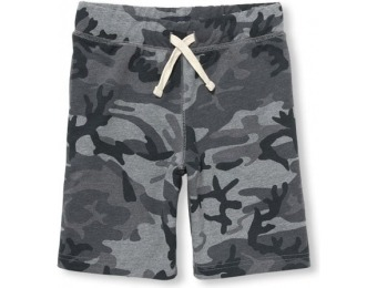 76% off Boys Camo Printed Terry Knit Shorts - Gray