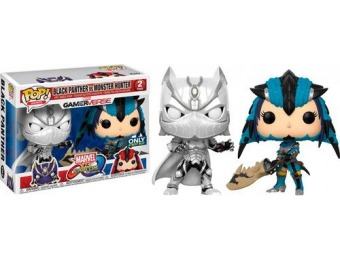 50% off Funko POP Marvel vs Capcom Black Panther vs Monster Hunter