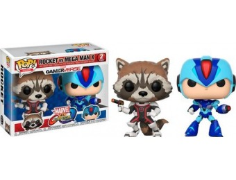 50% off Funko Pop! Marvel vs. Capcom: Rocket vs. Mega Man X