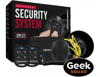 $50 off Compustar Security System with Shock Sensor and Siren