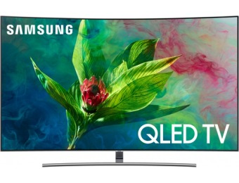 "$600 off Samsung 55"" Curved Q7C 2160p HDR Smart 4K UHD TV"