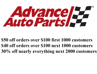 Save 50% off orders of $100+ at Advance Auto Parts